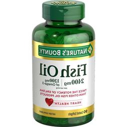 Natures bounty fish oil 2400 mg 1200 mg of omega-3 90 coated