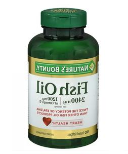 Nature's Bounty Fish Oil 2400 mg  90 softgels