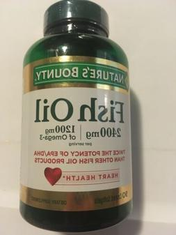 Natures Bounty Fish Oil 90 2400mg Softgels EXP 04/2020