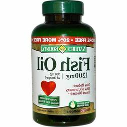 Natures Bounty Omega-3 Fish Oil 120 softgels 1200 mg Expires