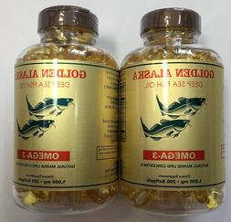 NCB Alaska Deep Sea Fish Oil, Omega 3 1000mg 200 Softgels