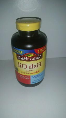 NEW Nature Made Fish Oil 1000 mg 300 mg Omega-3 Supplement 2