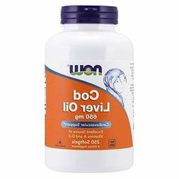 NOW Supplements, Cod Liver Oil 650 mg, Source of Vitamins A