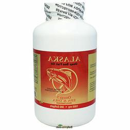 3 x Omega-3, EPA DHA, Alaska Deep Sea Fish Oil,=900caps, FRE