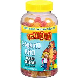 Lil Critters Omega-3 DHA Natural Flavors: 180 Gummy Fish