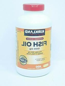 Kirkland Signature Omega-3 Fish Oil 1000 mg 400ct. Softgels