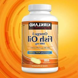 Kirkland Signature Omega-3 Fish Oil 1000 mg Omega-3 400 soft