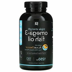 Omega-3 Fish Oil 1250mg  180 gelcaps Contains the highest le