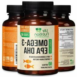 Omega 3 Fish Oil Capsules Triple Strength 2000mg EPA & DHA -