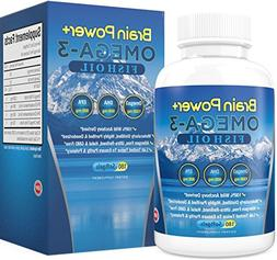 Omega 3 Fish Oil Burpless | 2200 mg Per Serving, 800 mg EPA,