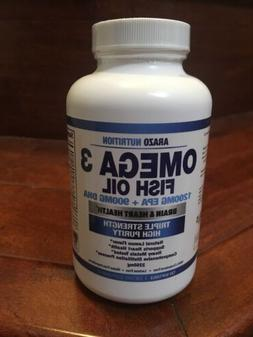 OMEGA 3 FISH OIL brain and heart health, ARAZO Nutrition 225