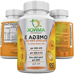 Amwok Omega 3  Fish oil  dietary supplement, for Cardiovascu