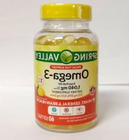 Spring Valley Omega-3 from Fish Oil, 1040mg Dietary Suppleme