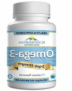 Omega 3 Fish Oil Triple Strength - Sourced from Wild Caught