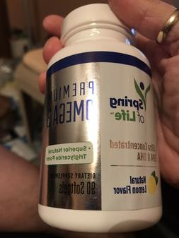 Spring of Life Premium Omega 3 Softgels with EPA & DHA, No f