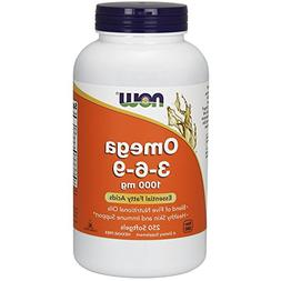 NOW OMEGA 3-6-9 Hexane Free Nutritional Oils - 250 Softgels