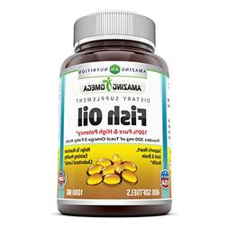 Amazing Omega Fish Oil - 1000 mg, 400 Softgels - Supports he