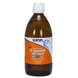 NOW Omega-3 Fish Oil Liquid,16.9-Ounce