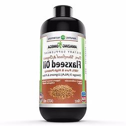 Amazing Omega Flaxseed Oil Dietary Supplement 16 Fl Oz. –