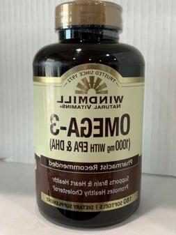 Windmill Omega 3 180 Softgels EPA and DHA Fish Oil Concentra