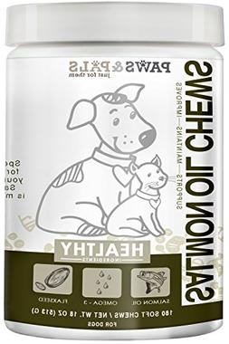 Paws & PalsWild Alaskan Salmon Fish Oil Omega 3 & 6 for Dogs