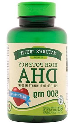 Nature's Truth High Potency DHA 500 mg Enteric Coated Capsul