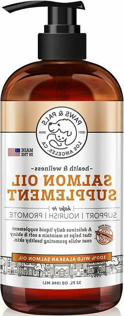 Pure Wild Alaskan Salmon Oil for Dog Pets Omega 3 Natural Fo