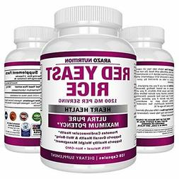 Red Yeast Rice Extract 1200 mg – CITRININ FREE Supplement