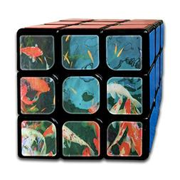 Rubiks Cube Colorful Koi Fish Ocean Sea Vintage Speed Cube 3
