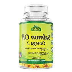 Salmon Oil 100 Softgels - Fish Oil - EPA - Dha - Essential F
