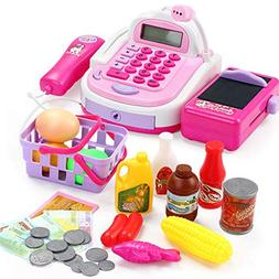 PinShang Kids Simulation Pretend Cash Register Calculator Ca