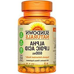 Sundown Naturals Super Alpha Lipoic Acid, 600mg, Capsules 60