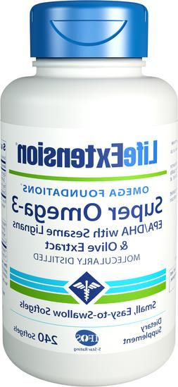 Life Extension Super Omega-3 EPA 240 Count