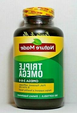 Nature Made Triple Omega 3 6 9 - Fish, Flaxseed, Safflower &