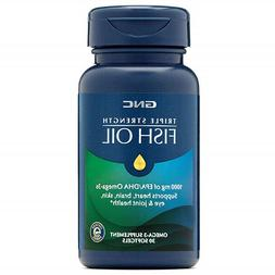 GNC Triple Strength Fish Oil 1000 MG 30 Softgels, for Joint