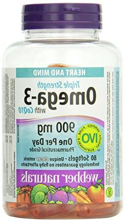 Webber Naturals Triple Strength Omega-3 with CoQ10 enteric c