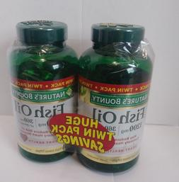 TWIN PACK Nature's Bounty Fish Oil 1200 mg 180 Rapid Release