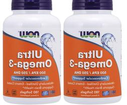 Now Foods Ultra Omega-3 Fish Oil 500 EPA 250 DHA 180 Softgel