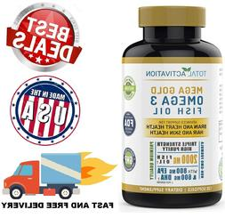 Ultra OMEGA-3 FISH OIL 2000mg Dietary Supplement 800 EPA + 6