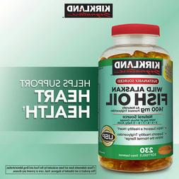 Kirkland Signature Wild Alaskan Fish Oil Omega 3 1400 mg 230